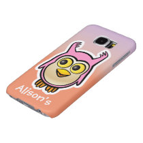 Customized Cute Baby Owl Cartoon Samsung Galaxy S6 Case