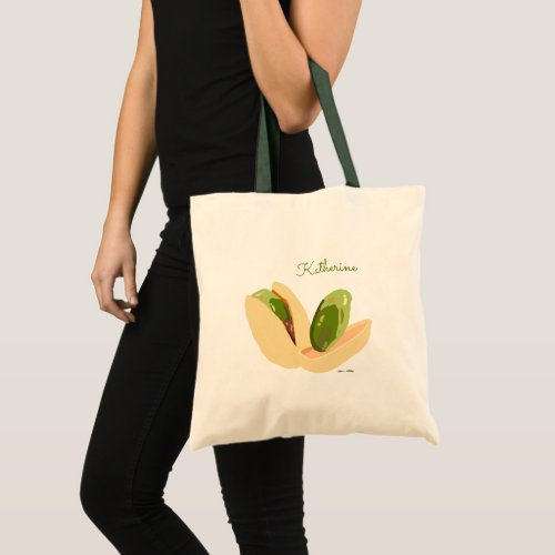 Customized Cute Pistachio Nuts Healthy Superfood Tote Bag