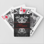 "Customized Dark Elegance Bicycle Playing Cards<br><div class=""desc"">This case says mystery,  elegance,  beauty and sophistication. It&#39;s both masculine and feminine.</div>"