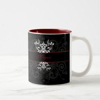 Customized Dark Elegance Coffee Mugs