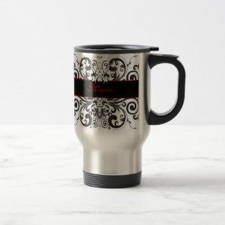 Customized Dark Elegance Travel Mug