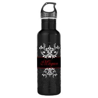Customized Dark Elegance Water Bottle