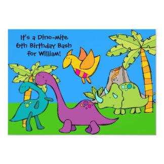 Customized Dino-mite Dinosaur Birthday Invitations