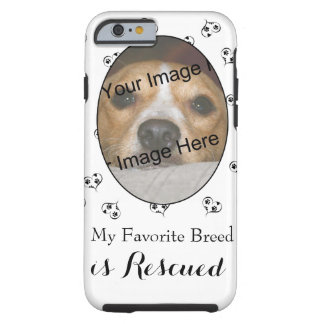 Customized Dog Breed Hearts and Paw Prints Tough iPhone 6 Case