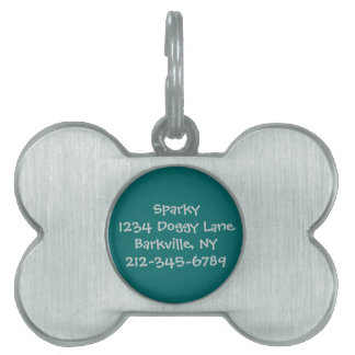 Customized Dog Tag teal Pet ID Tags