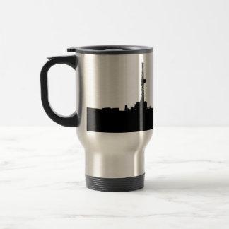 Customized Drilling Rig Silhouette Travel Mug