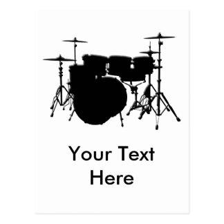 Customized Drum Set Postcard