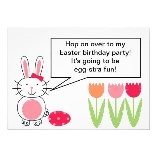 "Customized Easter 5x7"" Birthday Invitation"