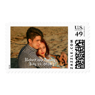 Customized Engagement or Wedding Postal Stamps