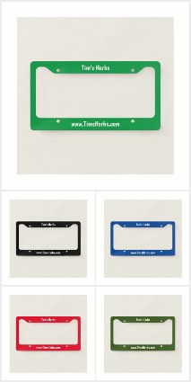 Customized Farm Promotion License Plate Covers