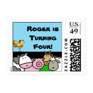 Customized Farm Theme Postage Stamps