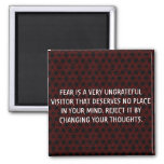 Customized Fear, Thoughs And Mind Magnet.