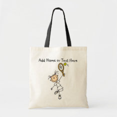 Customized Female Tennis  Player Tote  Bag at Zazzle