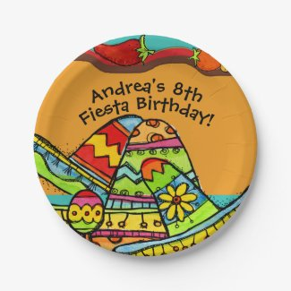 Customized Fiesta Birthday Paper Plate 7 Inch Paper Plate