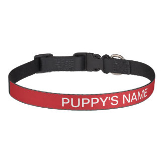Customized Fire Engine Red Basic Matching Color Pet Collar
