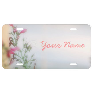 Customized Floral Photo License Plates