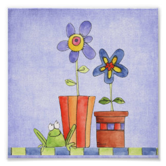 customized flower pot print