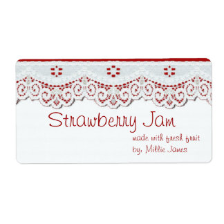 customized food gift label for jars or gift bags shipping label