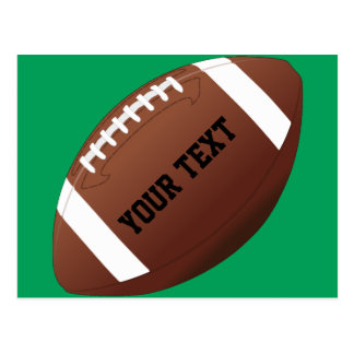 Customized Football Gift Postcard