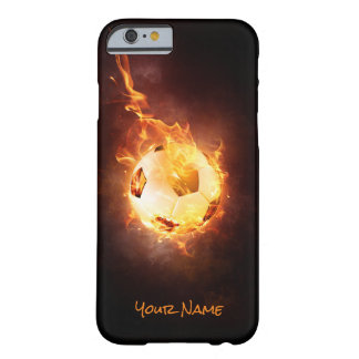 Customized Football under Fire, Ball, Soccer Barely There iPhone 6 Case