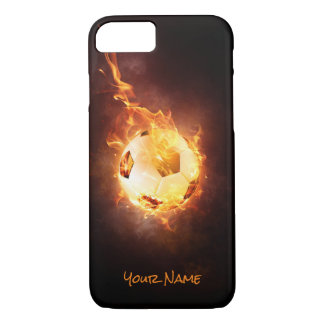 Customized Football under Fire, Ball, Soccer iPhone 8/7 Case