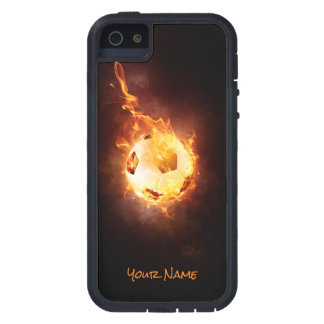 Customized Football under Fire, Ball, Soccer iPhone SE/5/5s Case