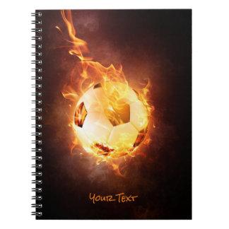 Customized Football under Fire, Ball, Soccer Notebook