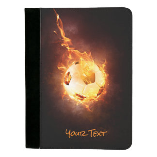 Customized Football under Fire, Ball, Soccer Padfolio