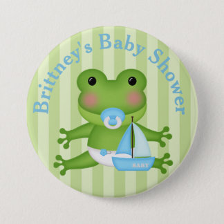 Customized Frog Baby Shower Button