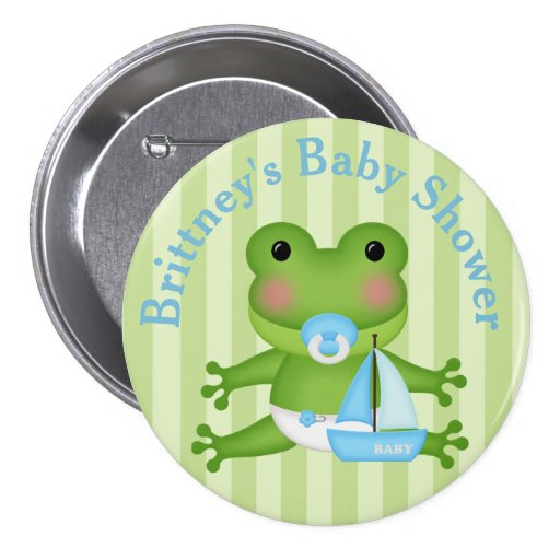 customized frog baby shower button zazzle