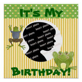 Customized Frog Birthday Poster