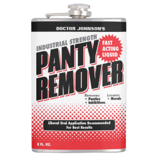 Customized Funny Panty Remover Flask
