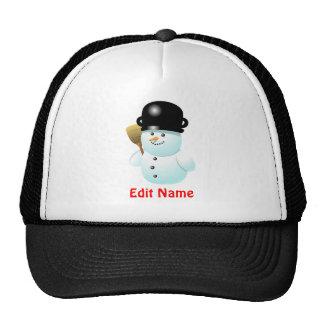 Customized Funny Snowman Cartoon Trucker Hat