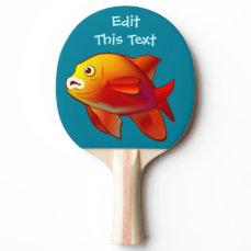 Customized Garibaldi Damselfish Cartoon Ping-Pong Paddle