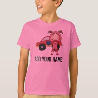 Customized Girl Race Car Driver T-shirt