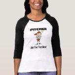Customized Girls Baseball Pitcher T-shirts