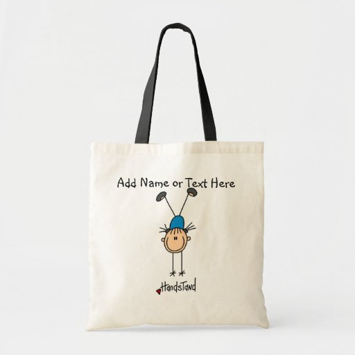Customized Girls Gymnast Handstand Tote  Bag