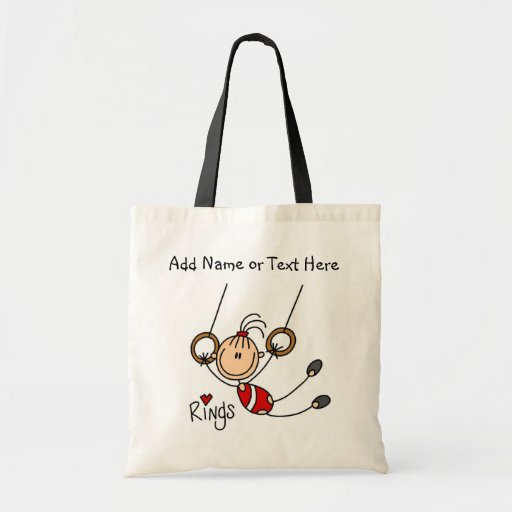 Customized Girls Gymnast on Rings Tote  Bag