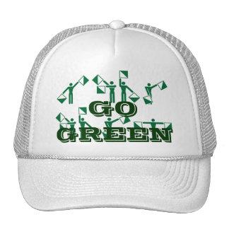 Customized Go Green Hat Environment Air Earth. Trucker Hat