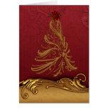 Customized Gold Christmas Tree Card