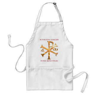 Customized Gold Christogram Adult Apron
