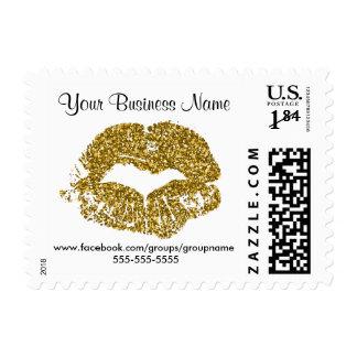 Customized Gold Glitter Lip Postage