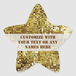 Customized Gold Sequins Star Sticker