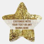 Customized Gold Sequins Star Sticker