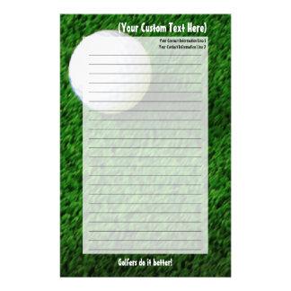 Customized Golf Stationery