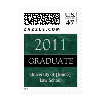 Customized Graduation Postage - Marbled Green