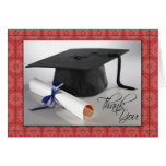 Customized Graduation Thank You Card (red)