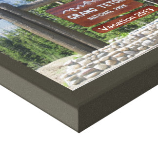 Customized Grand Teton Photo Souvenir Canvas Print