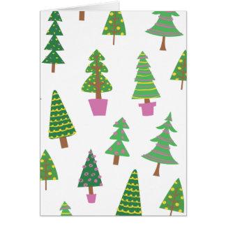 Customized Graphic Printed Christmas Tree Card