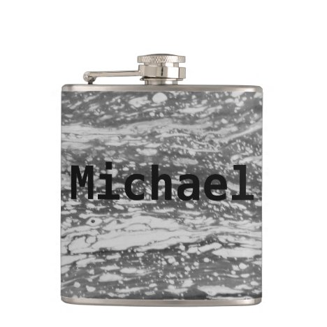 Customized Gray Snakeskin Flask
